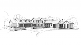 WanderWood_South Elevation Sketch